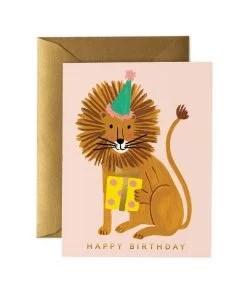 Carte anniversaire Rifle Paper Co Lion birthday