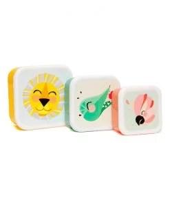 Boîtes à goûter Shiny lion Petit Monkey set de 3