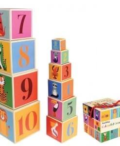 Set de 10 cubes à empiler Animaux Rex