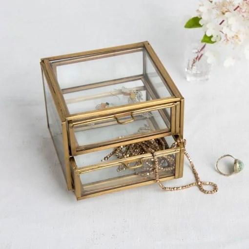 Boîte à bijoux en verre Rex
