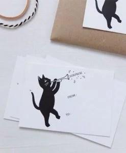 Petite carte Audrey Jeanne chat surprise