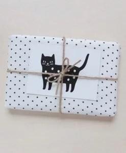 Petite carte Audrey Jeanne Dotty kitty