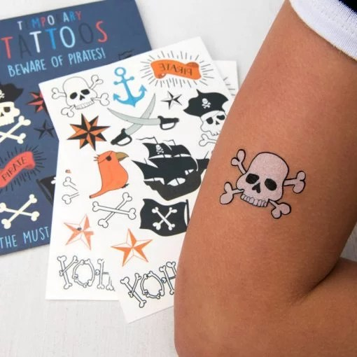 Tatouages temporaires pirates Rex