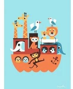 Affiche Arche de Noé Ingela Arrhenius – OMM Design