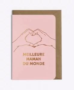 Carte Meilleure maman du monde Les Editions du Paon rose