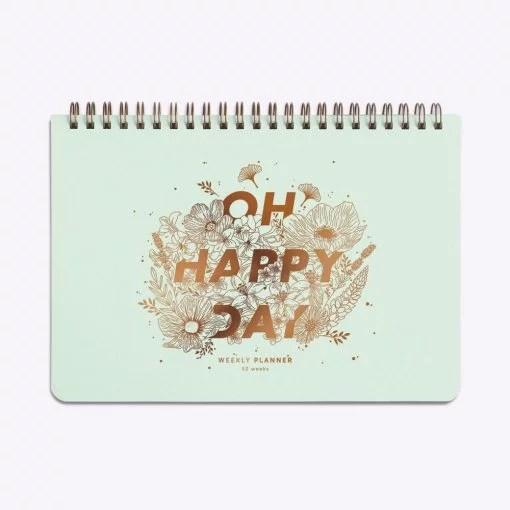 Semainier Les Editions du Paon Oh Happy Day