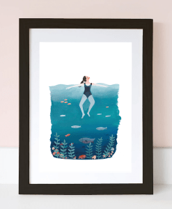Affiche Blue sea Jade Fisher