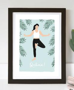 Affiche Yoga Jade Fisher