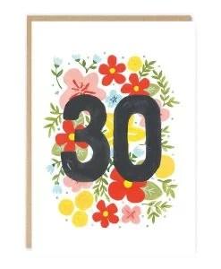 Carte anniversaire 30 ans Jade Fisher