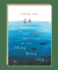 Carte amour Blue Sea Jade Fisher
