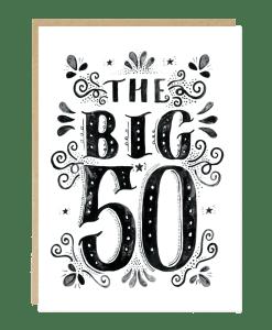 Carte anniversaire 50 ans Jade Fisher