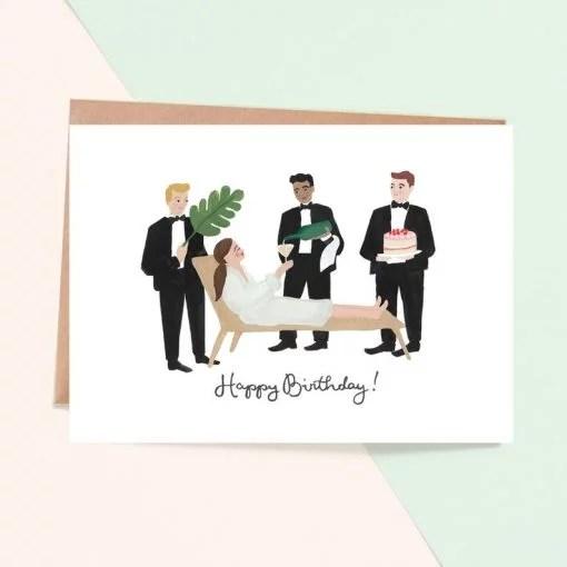 Carte anniversaire Jade Fisher Choyée
