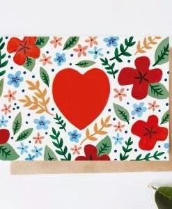 Carte amour Coeur folk Jade Fisher