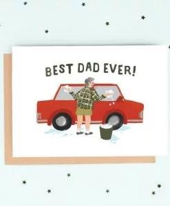 Carte papa Best Dad Ever Jade Fisher