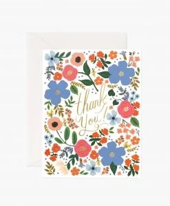 Carte remerciement Rifle Paper Co Wild Rose