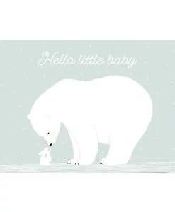 Carte naissance Hello little baby bleu Zü