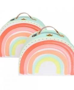 Set de 2 valises arc-en-ciel Meri Meri