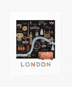 Affiche Londres Rifle Paper Co Noir