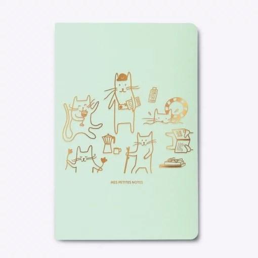 Carnet dos carré A cat's life Les Editions du Paon