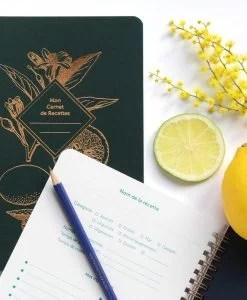 Carnet de recettes Lemonade Les Editions du Paon Vert sapin