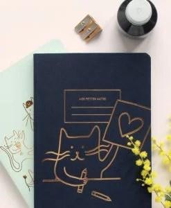 Carnet dos carré Cat artist Les Editions du Paon