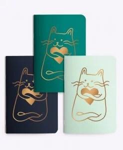 Trio de petits carnets Cat in love Les Editions du Paon