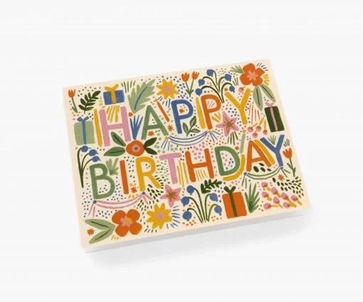 Carte anniversaire Fiesta Rifle Paper
