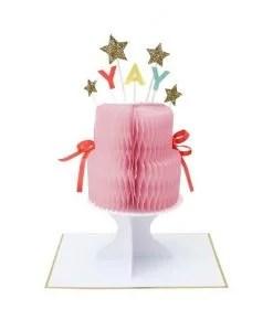 Carte anniversaire Gâteau Yay à déplier Meri Meri