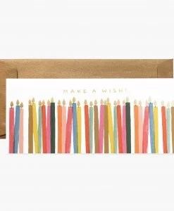 Carte anniversaire Make a wish Rifle Paper Co
