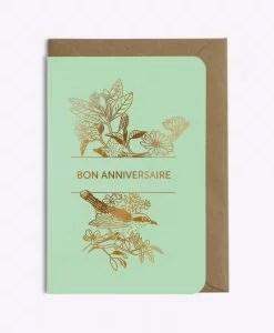 Carte anniversaire Oiseau Les Editions du Paon