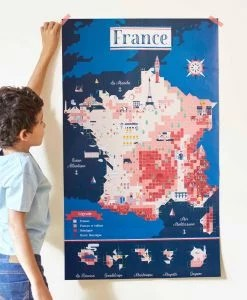 Sticker Poster – Carte de France (7 ans et +)