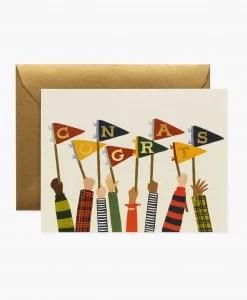Carte félicitations Fanions Rifle Paper Co
