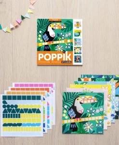 Lot de 6 cartes en gommettes – Tropical (4-8 ans)