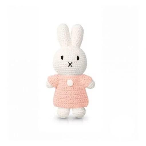 Peluche Miffy Robe – Rose pastel