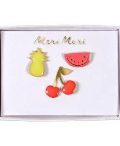 Set de 3 pin's Fruits