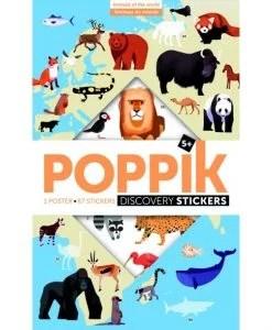 Poster géant + 76 stickers – Animaux du monde (5-12 ans)