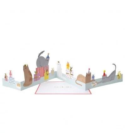 Carte anniversaire accordéon chat Meri Meri
