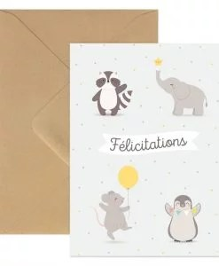 Carte Félicitations Animaux Zü
