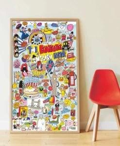 Poster géant + 85 stickers – 100% English (7 ans et +)