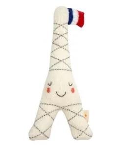 Hochet Tour Eiffel coton bio Meri Meri
