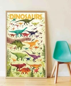 Poster géant + 32 stickers – Dinosaures (5-12 ans)