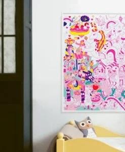 Poster à colorier Lily la licorne OMY