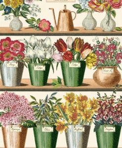 Affiche Marché aux fleurs Cavallini