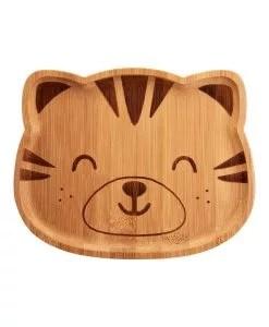 Assiette en bois de bambou tigre