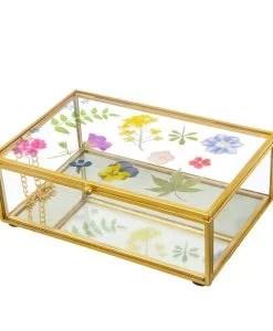 Boîte à bijoux en verre Herbarium