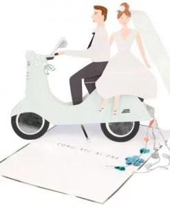 Carte Jeunes mariés à déplier Meri Meri
