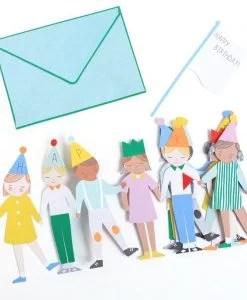 Carte anniversaire accordéon Enfants Meri Meri