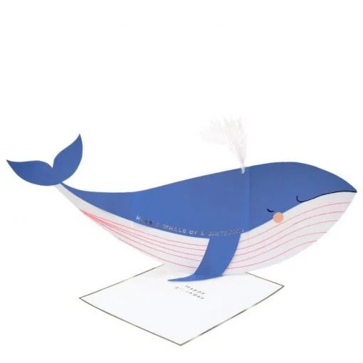 Carte anniversaire Baleine Meri Meri