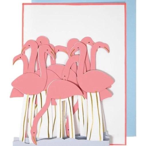 Carte anniversaire Flamand rose Meri Meri