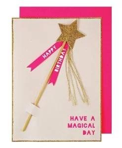 Carte anniversaire Baguette magique Meri Meri